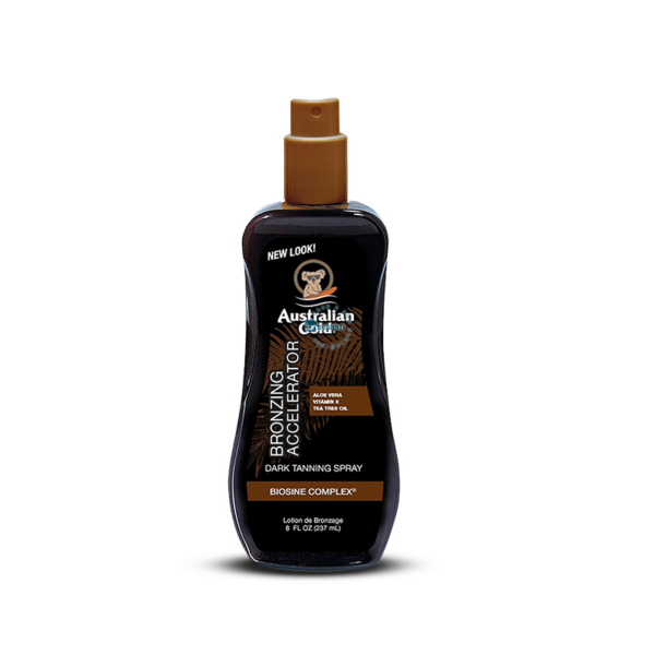 Dark Tanning Accelerator Spray Gel with Instant Bronzer